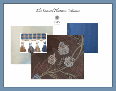Blue Diamond Plantation Drapery and Bedding Collection