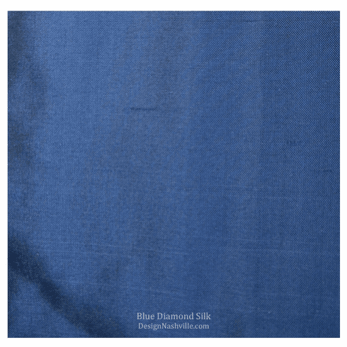 Blue Diamond Silk Fabric
