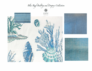 Blue Reef Bedding and Drapery Collection