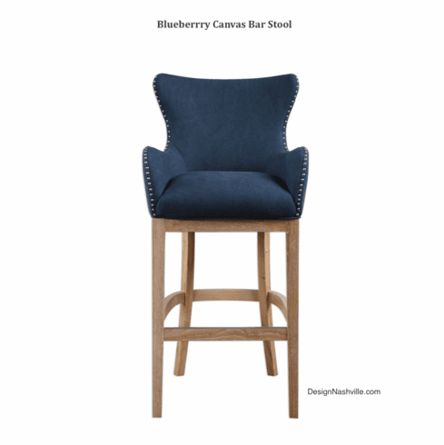 Blueberry Canvas Bar Stool