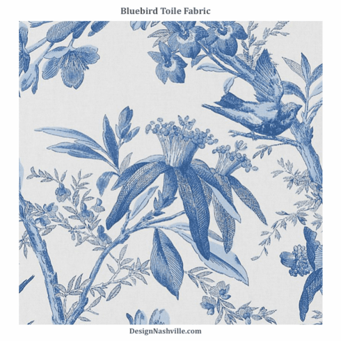 Bluebird Toile Fabric