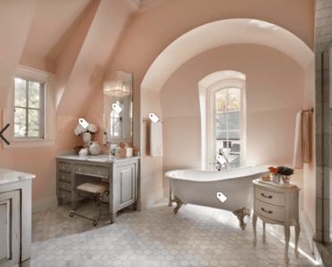 Blush and White Interior