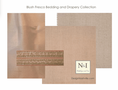 Blush Fresco Bedding and Drapery Collection