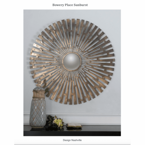 "Bowery Place Sunburst Wall Decor 45""diameter"