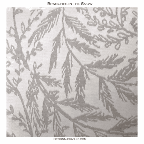 Swirling Branches in Snow Fabric