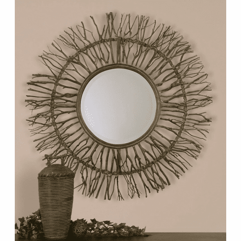Branches of the Earth Round Mirror