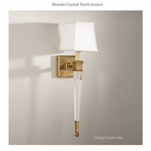 Brando Crystal Torch Sconce