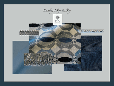 Breitling Indigo Bedding and Drapery Collection