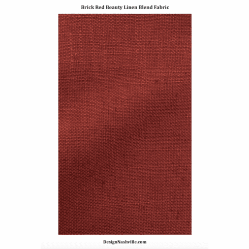 Brick Red Beauty Linen Blend Fabric
