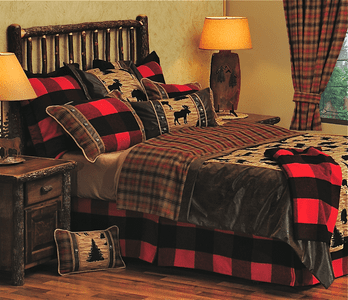 Bull Moose Haven Bedding and Drapery Collection
