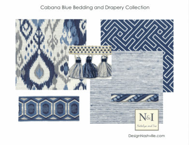 Cabana Blue Bedding and Drapery Collection