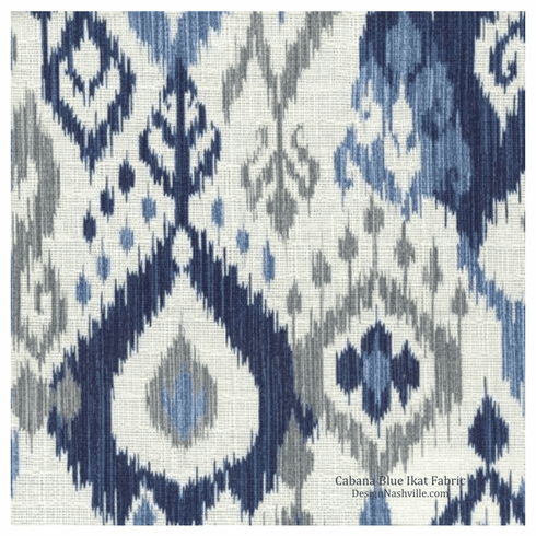 Cabana Blue Ikat Fabric