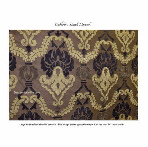 Cabbott's Break Chenille Damask