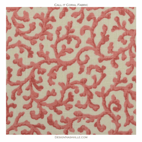 Call it Coral Print Fabric