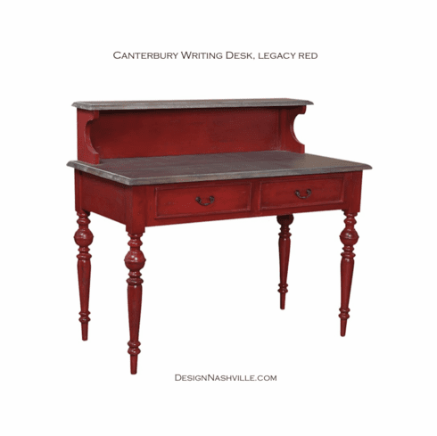 Canterbury Writing Desk, legacy red