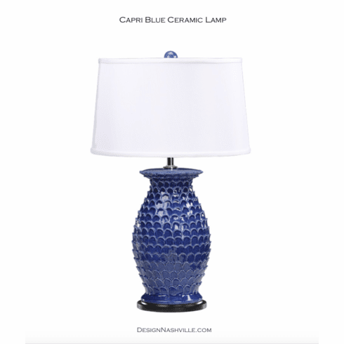 Capri Blue Ceramic Lamp