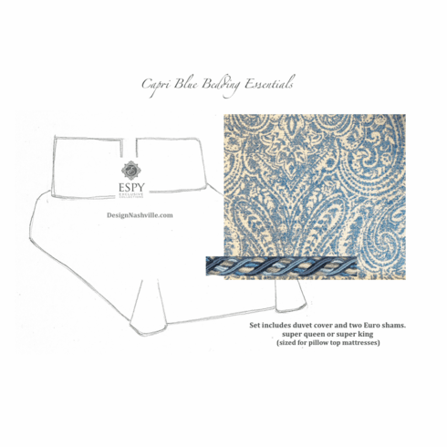 Capri Blue Custom Bedding<br> Essentials