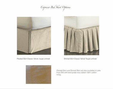Capricio Bed Skirt Options
