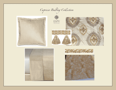Capricio Bedding and Drapery Collection