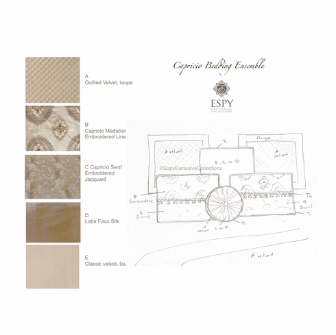 Capricio Bedding Set, build your own
