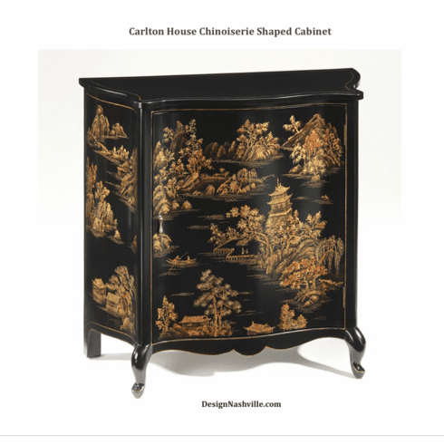 Carlton House Chinoiserie Shaped Cabinet