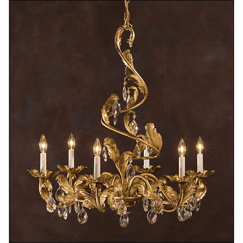 Cascading Leaves wrought iron chandelier