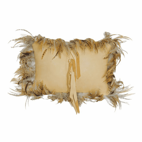 Cassandra Leather and Feather Pillow