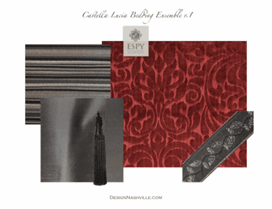 Castella Lucia Custom Bedding and Drapery Collection