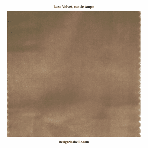 Castle Taupe Luxe Velvet Fabric SWATCH