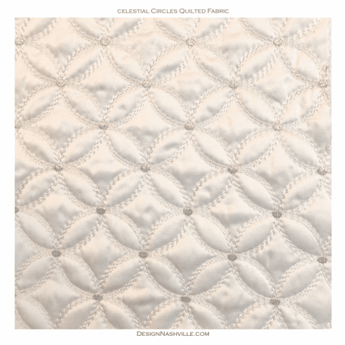 Celestial Circles Quilted Fabric