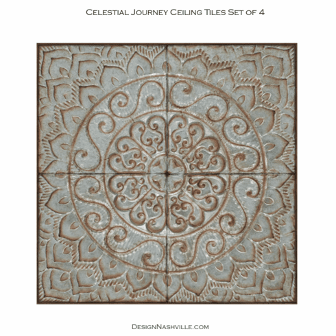 Celestial Journey Ceiling Tiles set of 4