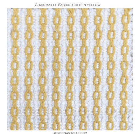 Chainmaille Cotton Fabric golden yellow