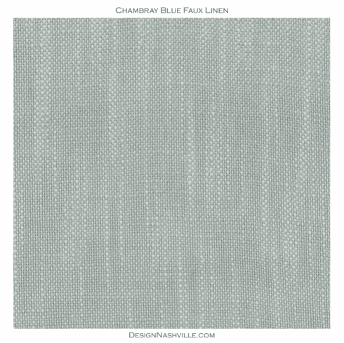 Chambray Blue Faux Linen Fabric