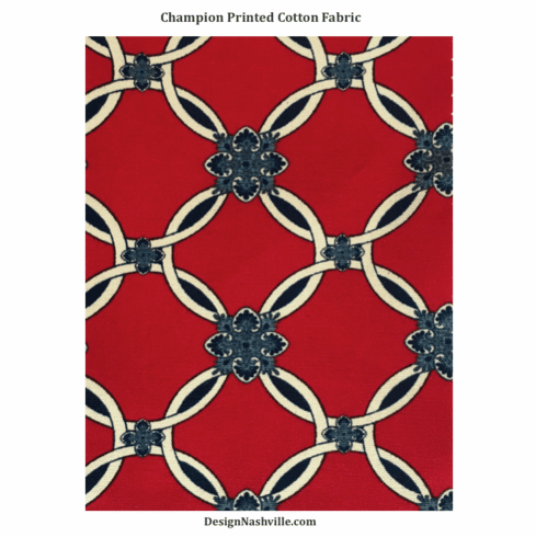 Champion Red Printed Cotton Fabric