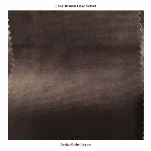 Char-Brown Luxe Velvet Fabric SWATCH