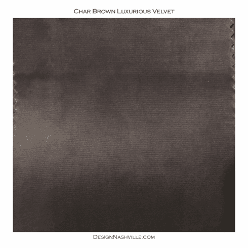 Char-brown Luxurious Velvet SWATCH