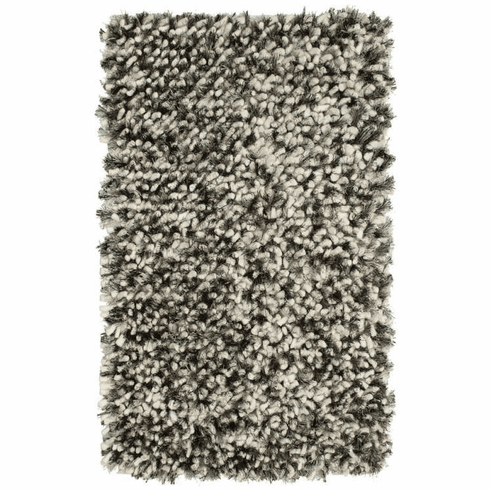Charcoal and Salt Marshmallow Rug
