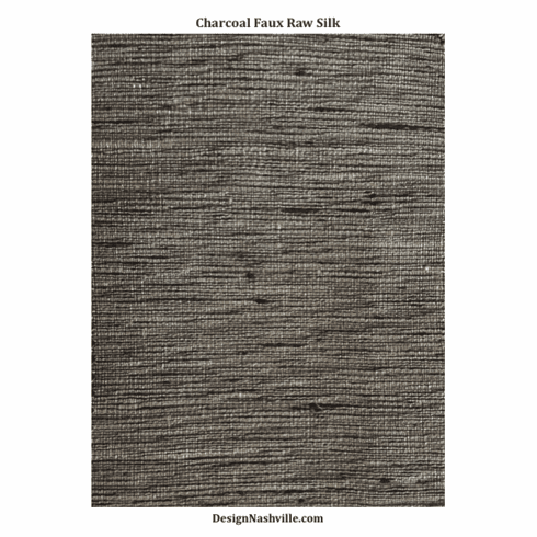 Charcoal Faux Raw Silk Fabric