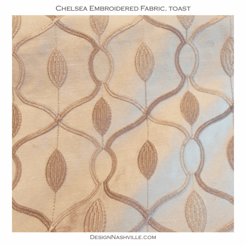 Chelsea Embroidered Fabric, toast