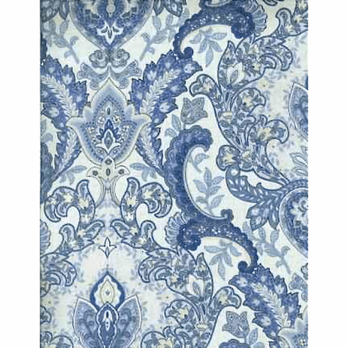 Cherished Blue Paisley  Fabric