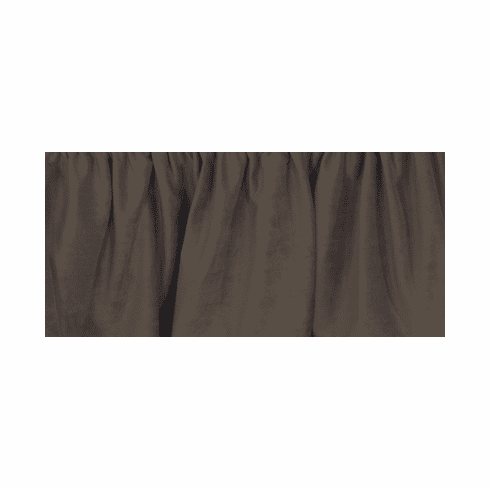 Chocolate Suede Bed Skirt