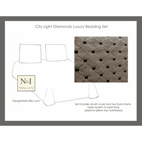 City Light Diamond Luxury Bedding Set