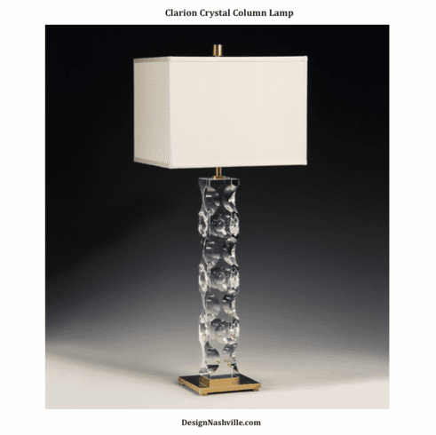 Clarion Crystal Column Lamp