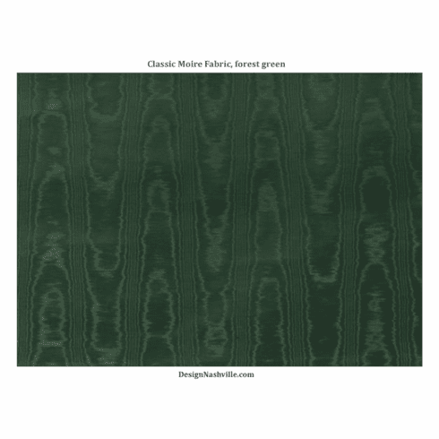 Classic Moire Fabric, forest green