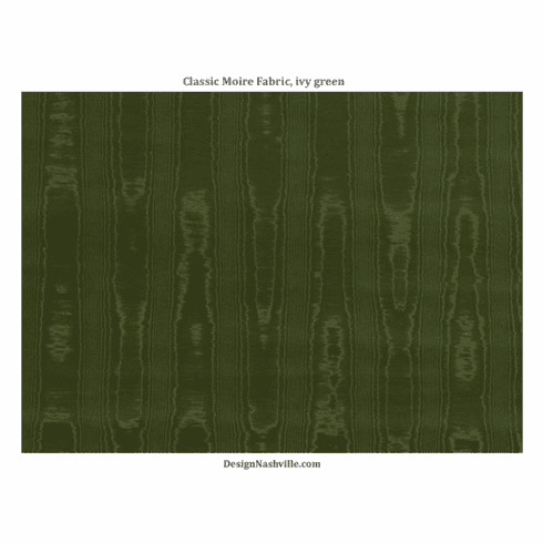 Classic Moire Fabric, ivy green