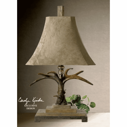 Classic Stag Horn table lamp