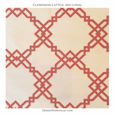 Clerendon Lattice, red coral