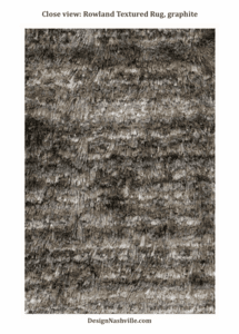 Close view: Rowland Textured Rug, graphite
