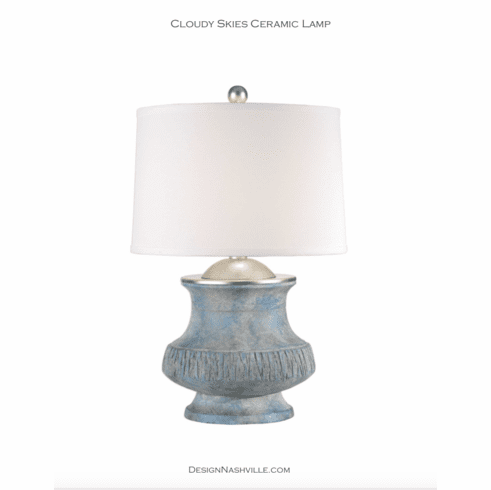 Cloudy Skies Ceramic Lamp