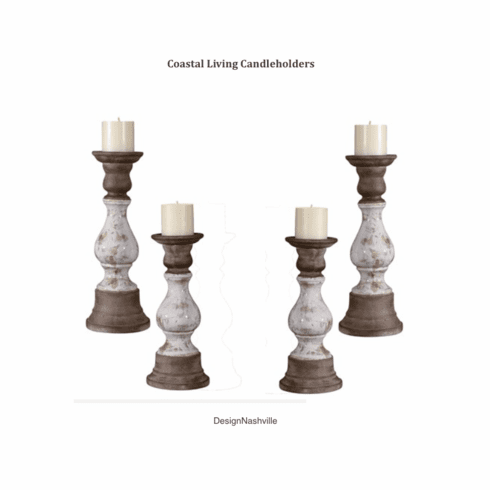 Coastal Living Candleholders set of 4